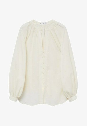 Button-down blouse - gebroken wit