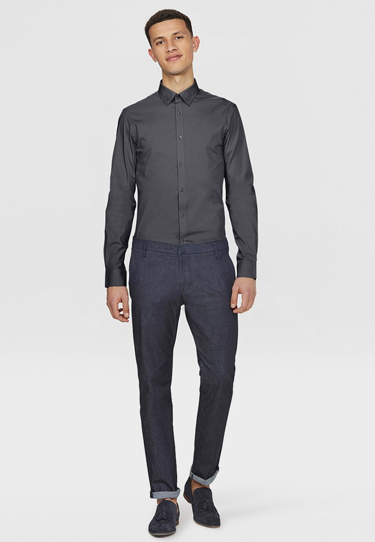 WE Fashion SLIM FIT STRETCH - Hemd - grey/dunkelgrau xXtcyD