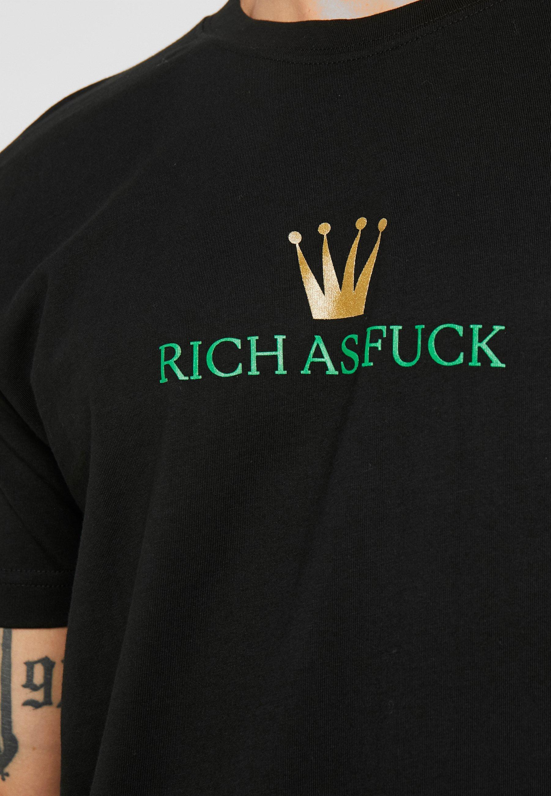 Homme RICH AS FUCK TEE - T-shirt imprimé
