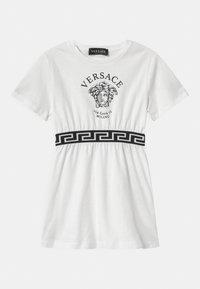 Versace - VIA GESU MEDUSA - Jersey dress - white/black - 0