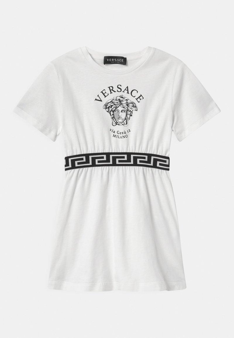Versace - VIA GESU MEDUSA - Jersey dress - white/black