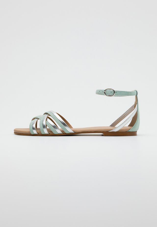 LEATHER - Sandals - mint
