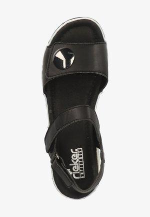 Sandały na platformie - schwarz 00