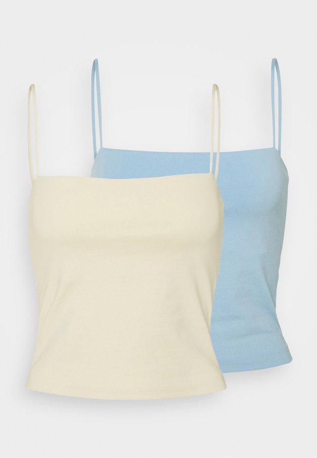 SCARLETT SINGLET 2 PACK - Top - alabaster/blue