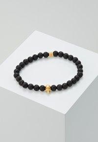 Northskull - SKULL BRACELET - Bracciale - black/gold-coloured - 0