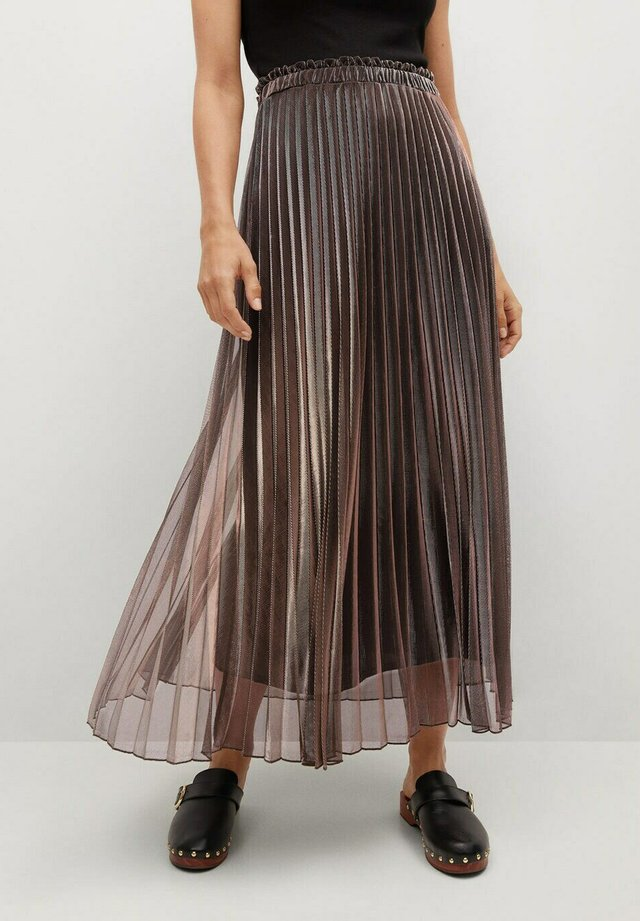 MOSQUETA-A - Pleated skirt - kupfer