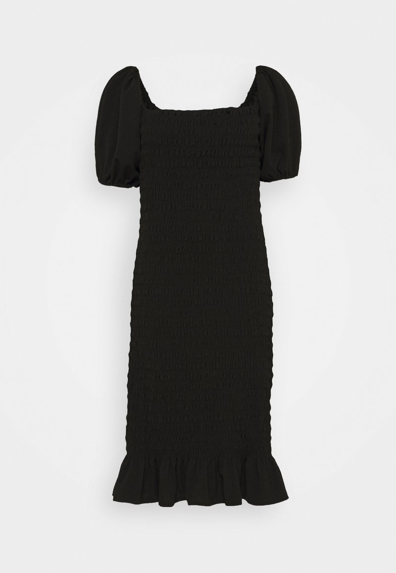 New Look Curves - SHIRRED PLAIN BARDOT MIDI - Day dress - black