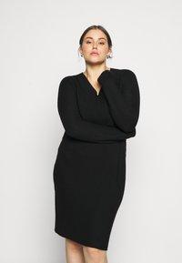 Persona by Marina Rinaldi - GARDENIA - Gebreide jurk - black - 0