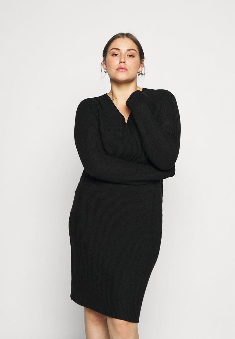 Persona by Marina Rinaldi - GARDENIA - Gebreide jurk - black
