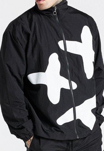 LOOSE FIT AOKI FUNNEL ZIP THROUGH - Giacca leggera - black/white