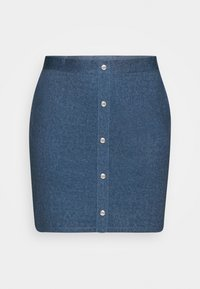 Even&Odd Curvy - A-linjainen hame - dark denim - 3