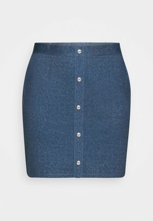 A-line skirt - dark denim