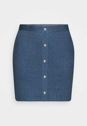 Áčková sukně - dark denim