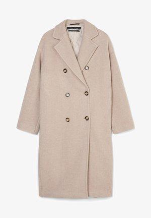 Płaszcz wełniany /Płaszcz klasyczny - alpaca melange