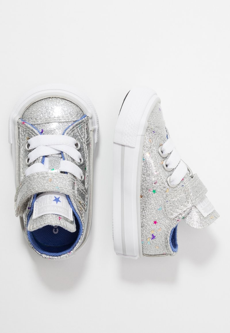 Converse - CHUCK TAYLOR ALL STAR GALAXY GLIMMER - Trainers - silver/ozone blue/white