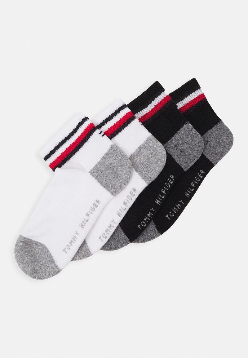 Tommy Hilfiger - KIDS ICONIC SPORTS QUARTER 4 PACK - Socks - black