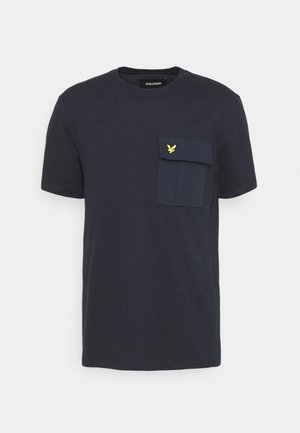 POCKET  - Print T-shirt - dark navy