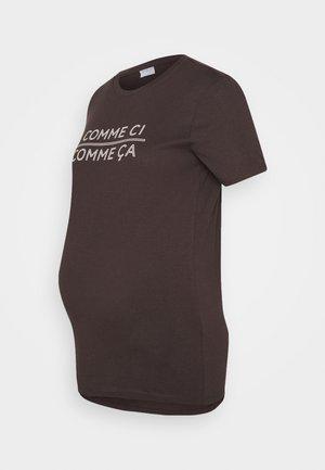 PCMSANICCA TEE - Print T-shirt - mole