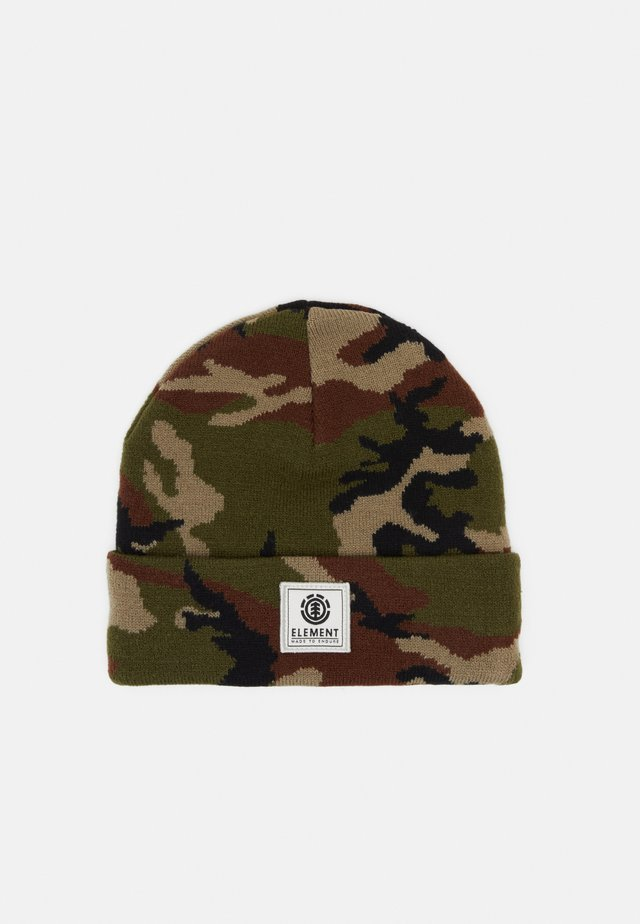 DUSK BEANIE BOY - Lue - dark green/brown