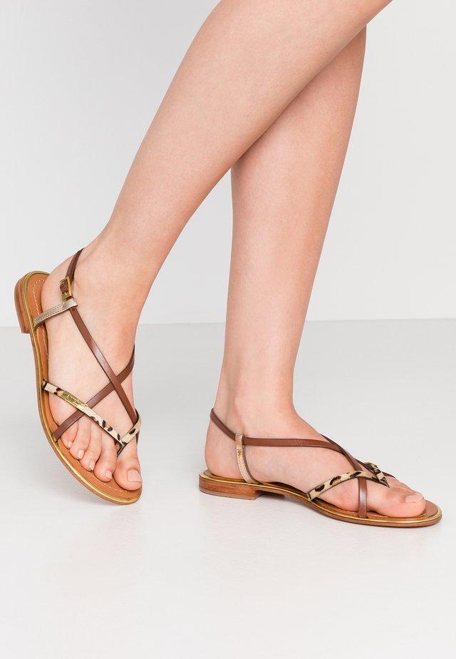 MONACO - Sandály s odděleným palcem - tan