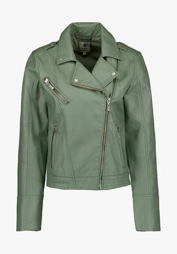Faux leather jacket - sea spray