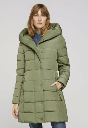 MIT BREITEM KRAGEN - Winter coat - greyish green