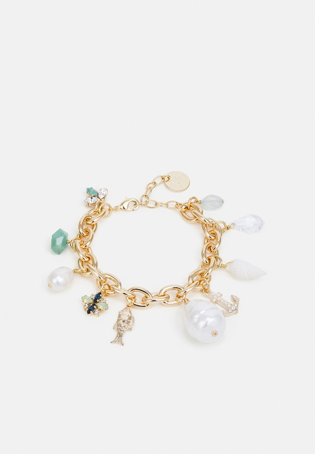 THICK CHAIN CHARM BRACELET - Armband - green