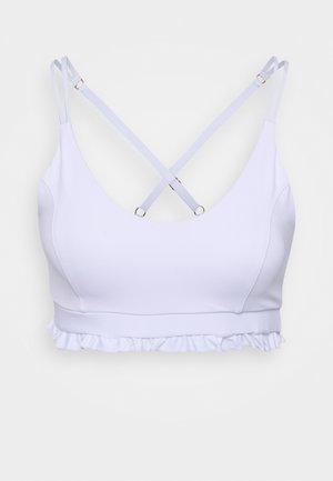 CHERISH CROP - Light support sports bra - white