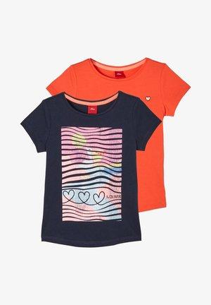 2 PACK - Print T-shirt - blue aop orange
