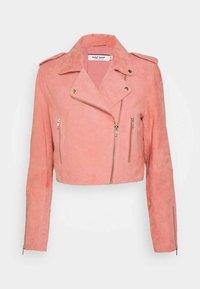 YASSOU - Leather jacket - rose