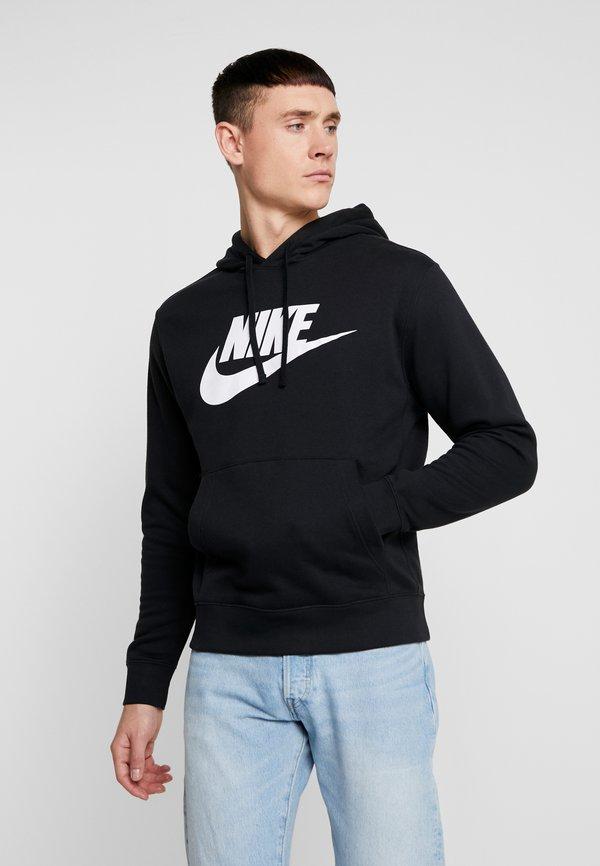 Nike Sportswear Bluza z kapturem - black/white/czarny Odzież Męska NSRQ