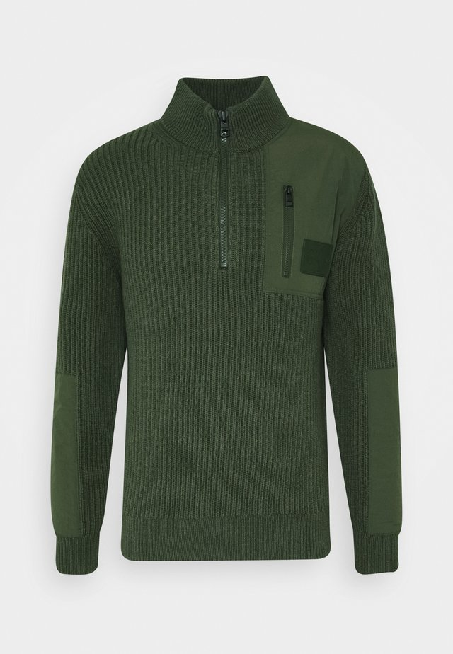 UTILITY HALF ZIP SWEATER - Jumper - deep depths