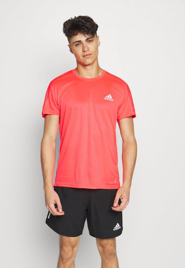 RESPONSE RUNNING SHORT SLEEVE TEE - Print T-shirt - pink