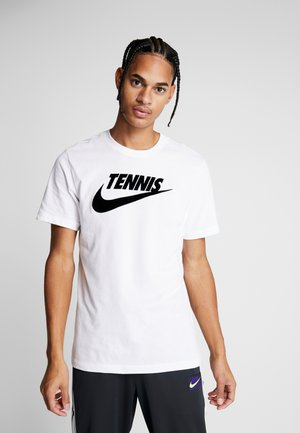 TEE TENNIS - Triko spotiskem - white/black