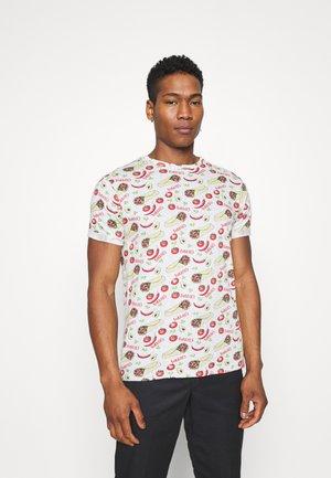 BURRITO - Print T-shirt - ecru marl