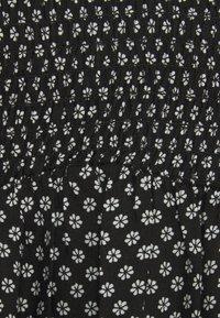 Dorothy Perkins - DITSY SHEERED MINI FIT AND FLARE - Kjole - black - 2