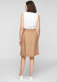s.Oliver - A-line skirt - desert sand melange - 2