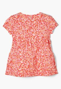 s.Oliver - MIT BLUMENMUSTER - Print T-shirt - orange floral print - 1