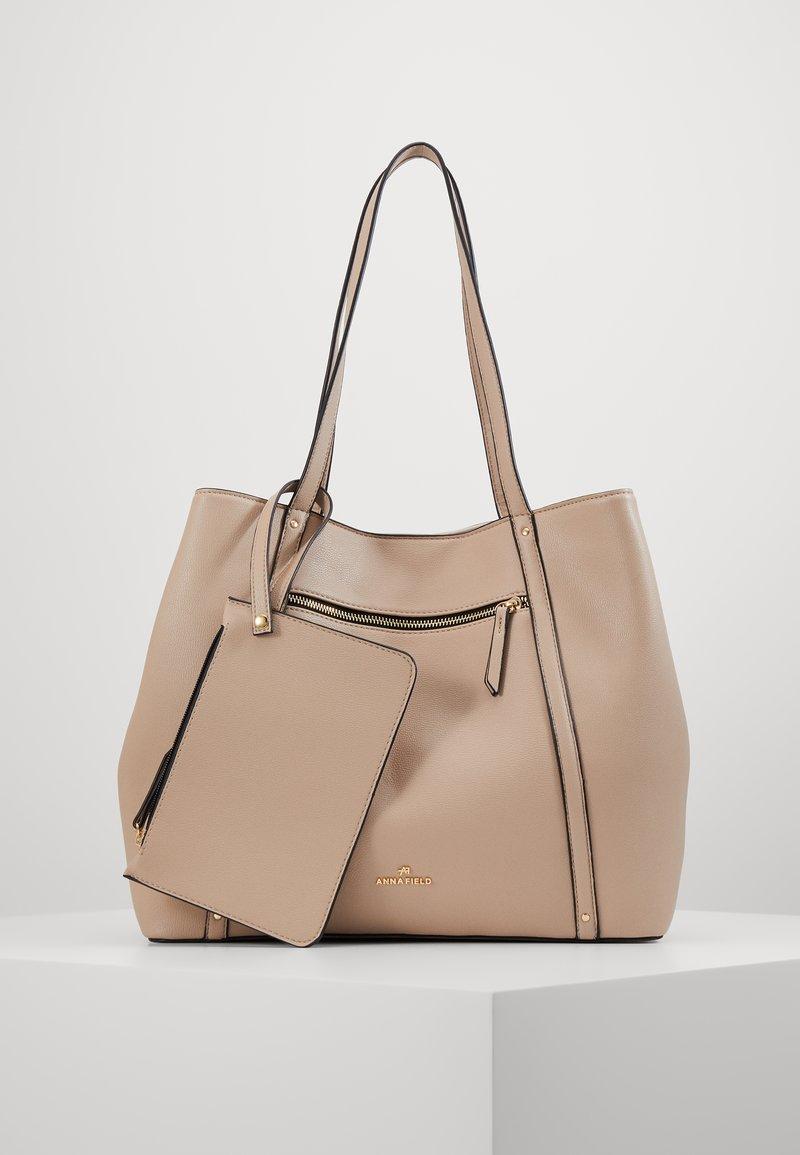 Anna Field - SHOPPING BAG / POUCH SET - Velká kabelka - beige