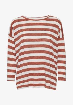 KABEATE - Camiseta de manga larga - chili melange/chalk stripe