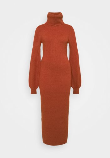 SLOUCHY DRESS WITH PUFF LONG SLEEVES