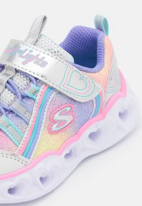 Skechers - HEART LIGHTS - Trainers - silver/multicolor