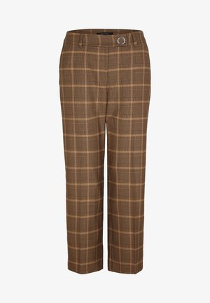 Trousers - black woven check