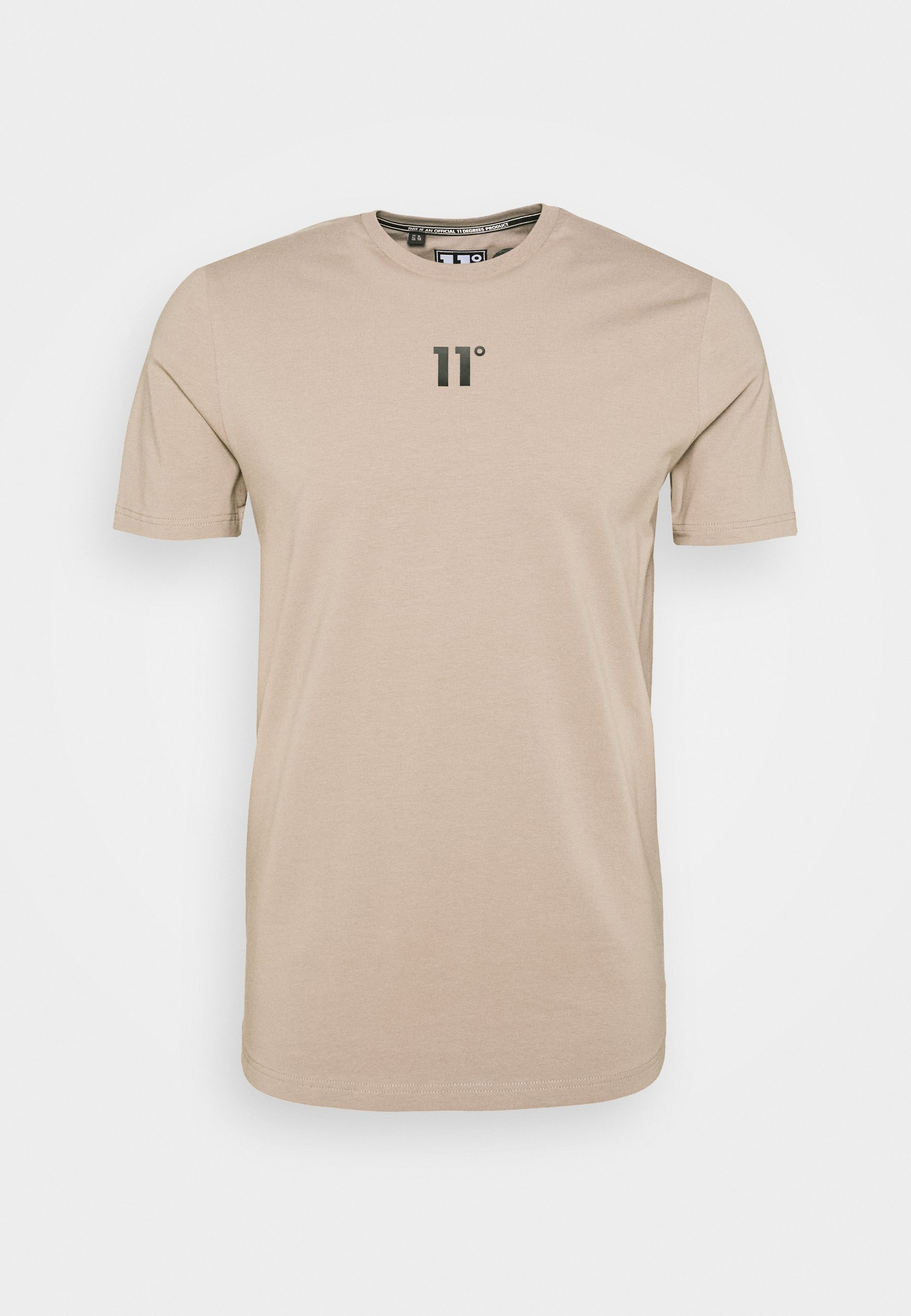 11 DEGREES BOX GRAPHIC BACK - Camiseta estampada - brown/black Wijnu