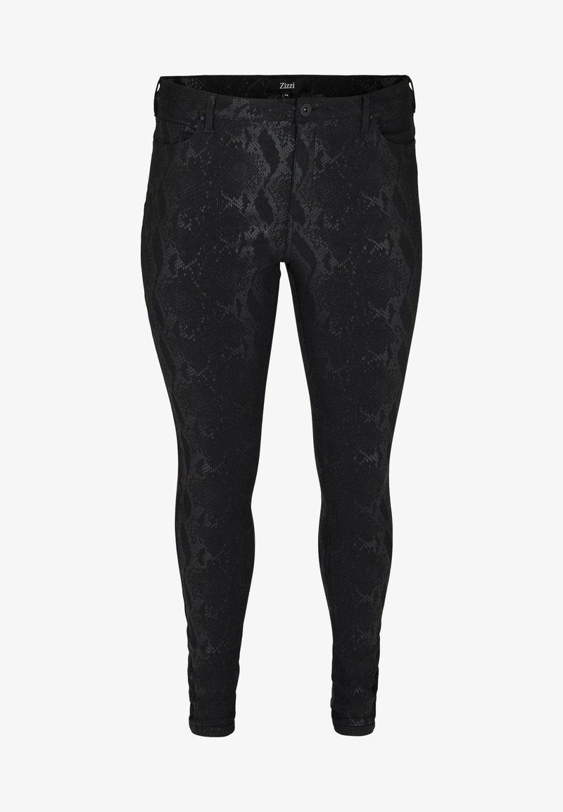 Zizzi Jeans Slim Fit - black/schwarz ShagOj