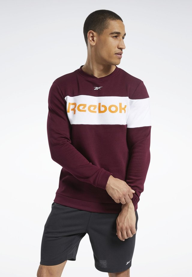 TRAINING ESSENTIALS FLEECE CREW SWEATSHIRT - Maglietta a manica lunga - burgundy