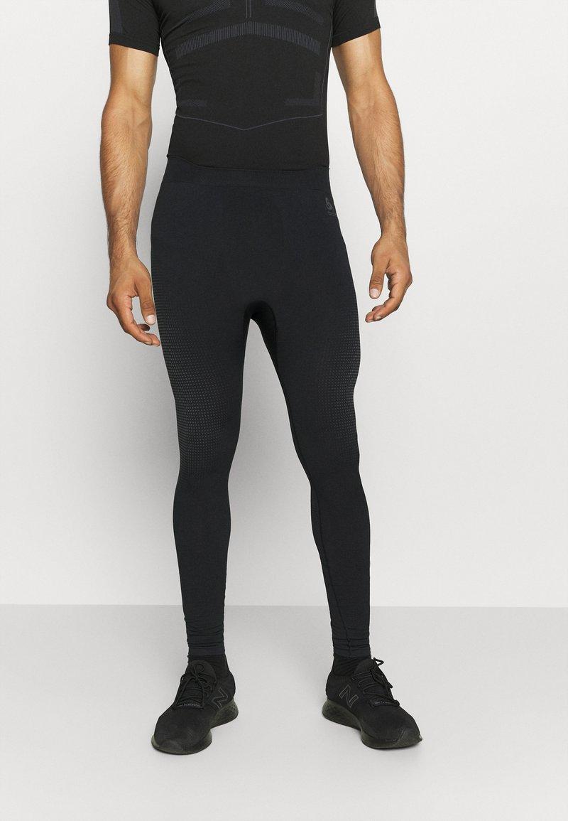 ODLO - PERFORMANCE WARM ECO BOTTOM LONG - Unterhose lang - black/new odlo graphite grey