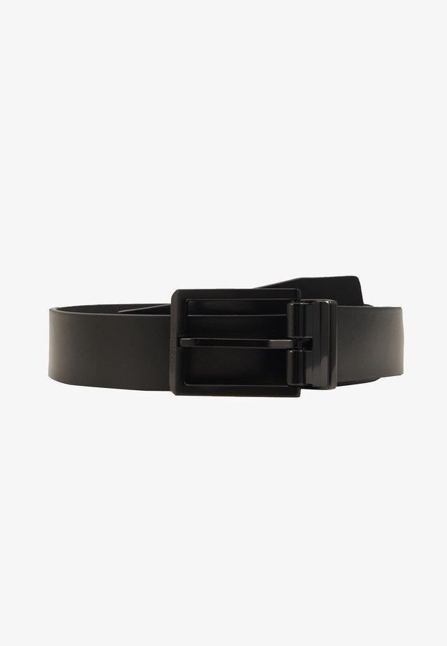 SKIVED BUCKLE MONO - Pásek - black