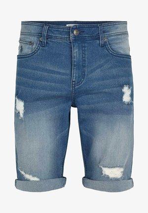 CHANO - Jeansshorts - medium blue