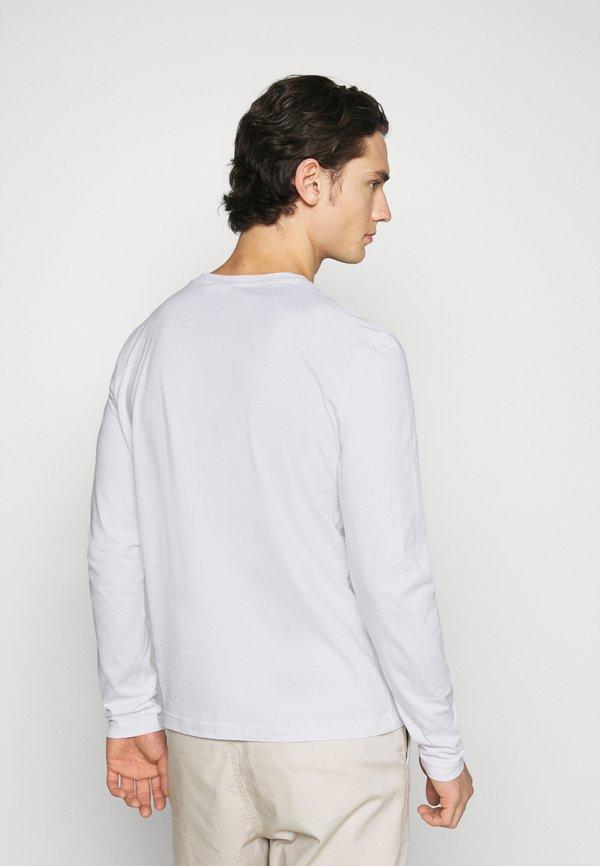Calvin Klein LONG SLEEVE LOGO 2 PACK - Bluzka z długim rękawem - black/white/czarny Odzież Męska ALRF